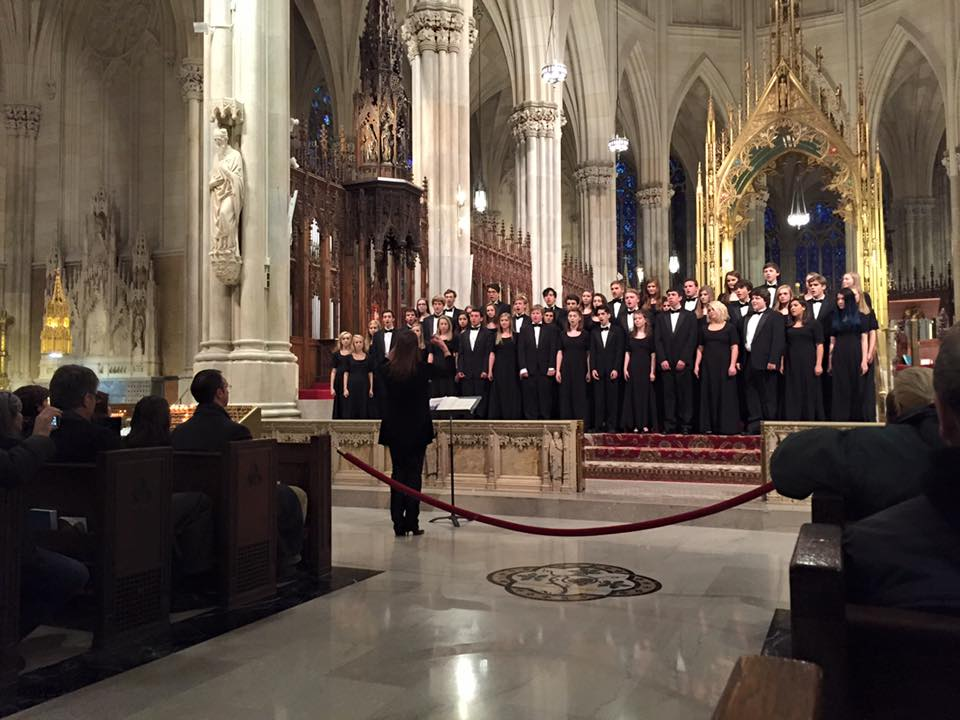 This is in fact not The Other Guys, instead this pretty picture features students from Highland Park School in Dallas, putting on a tremendous performance in St Patrick's Cathedral in Midtown.
