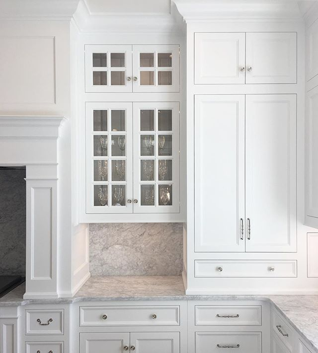 Here's a little sneak peek of a kitchen we are wrapping up in a house with @the_fox_group_  It was a great collaboration with the homeowner. A lot of thought and patience went into the layout of the cabinets after countless revisions. The lighting was too perfect to pass up this shot.