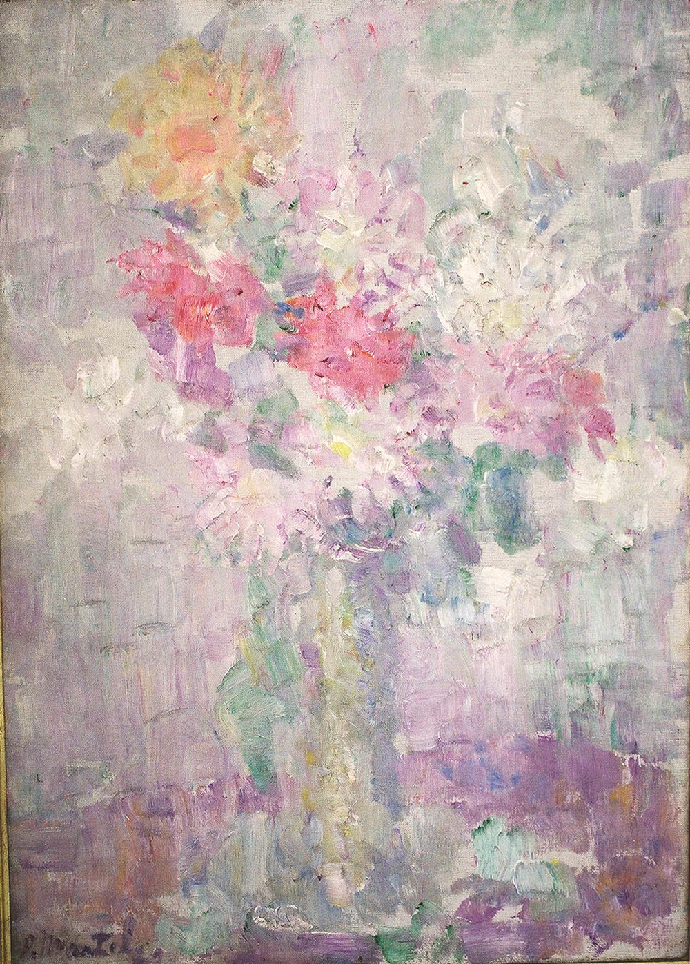 """Dahlias"" 1922- Oil on Canvas 36"" x 26"""