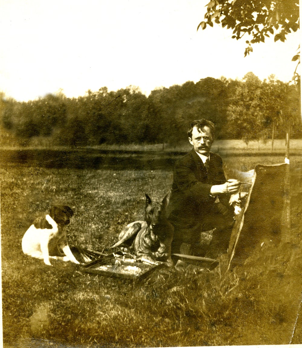 paul painting landscape w- dogs.jpg