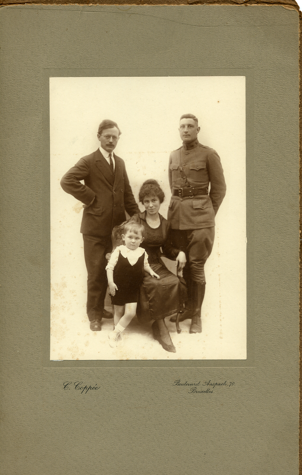 Family Photo with Paul, Remi, Muriel and Uncle Ralph (Muriel's Brother) far right- Circa 1920