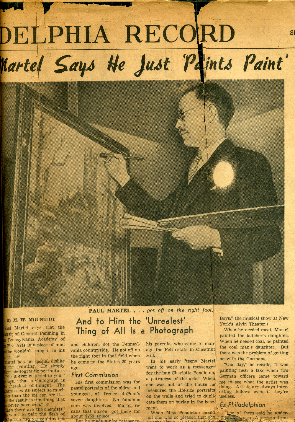Philadelphia Record Article-March 11, 1943