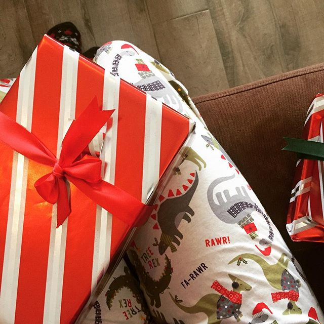 I'm dino ready to open presents! Thank you Allie & Kyle!
