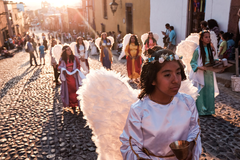 Just one of the many beautiful processions to photograph in San Miguel de Allende during Semana Santa.