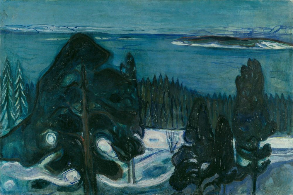 Winter night, 1900