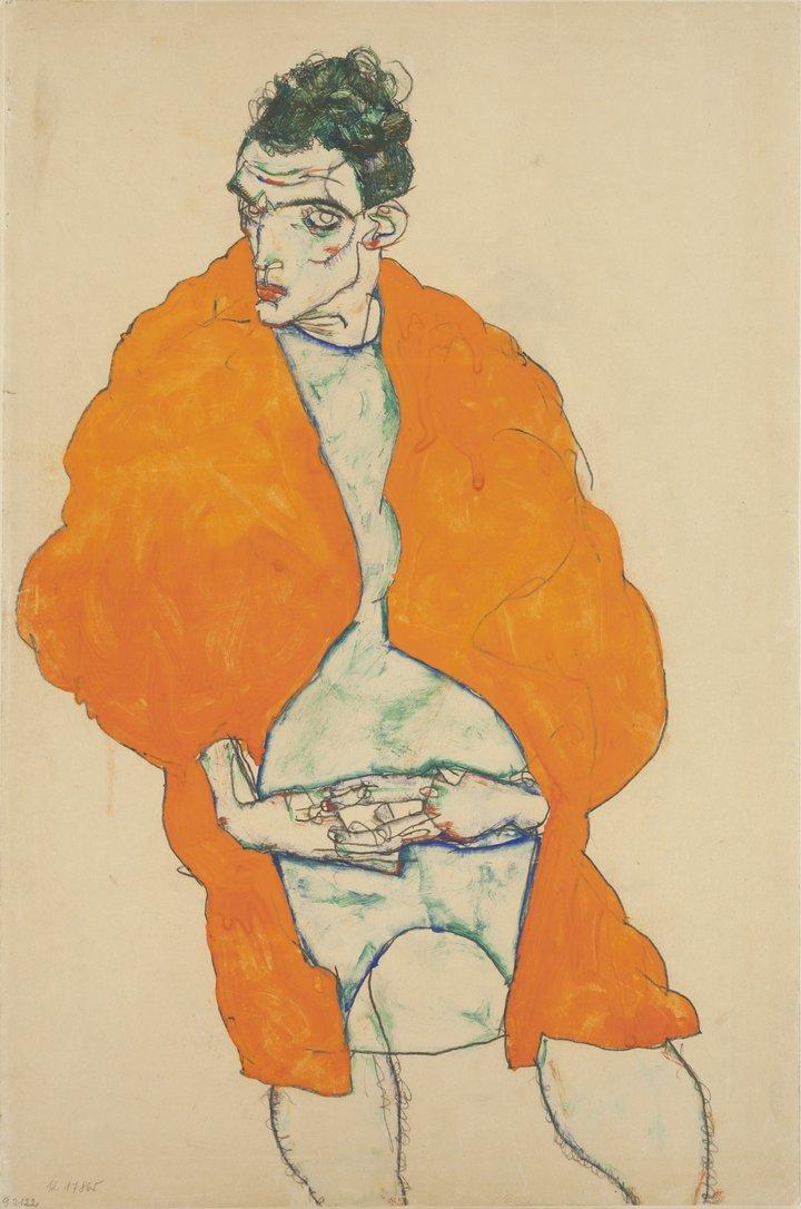 Standing male figure (self-portrait) , 1914