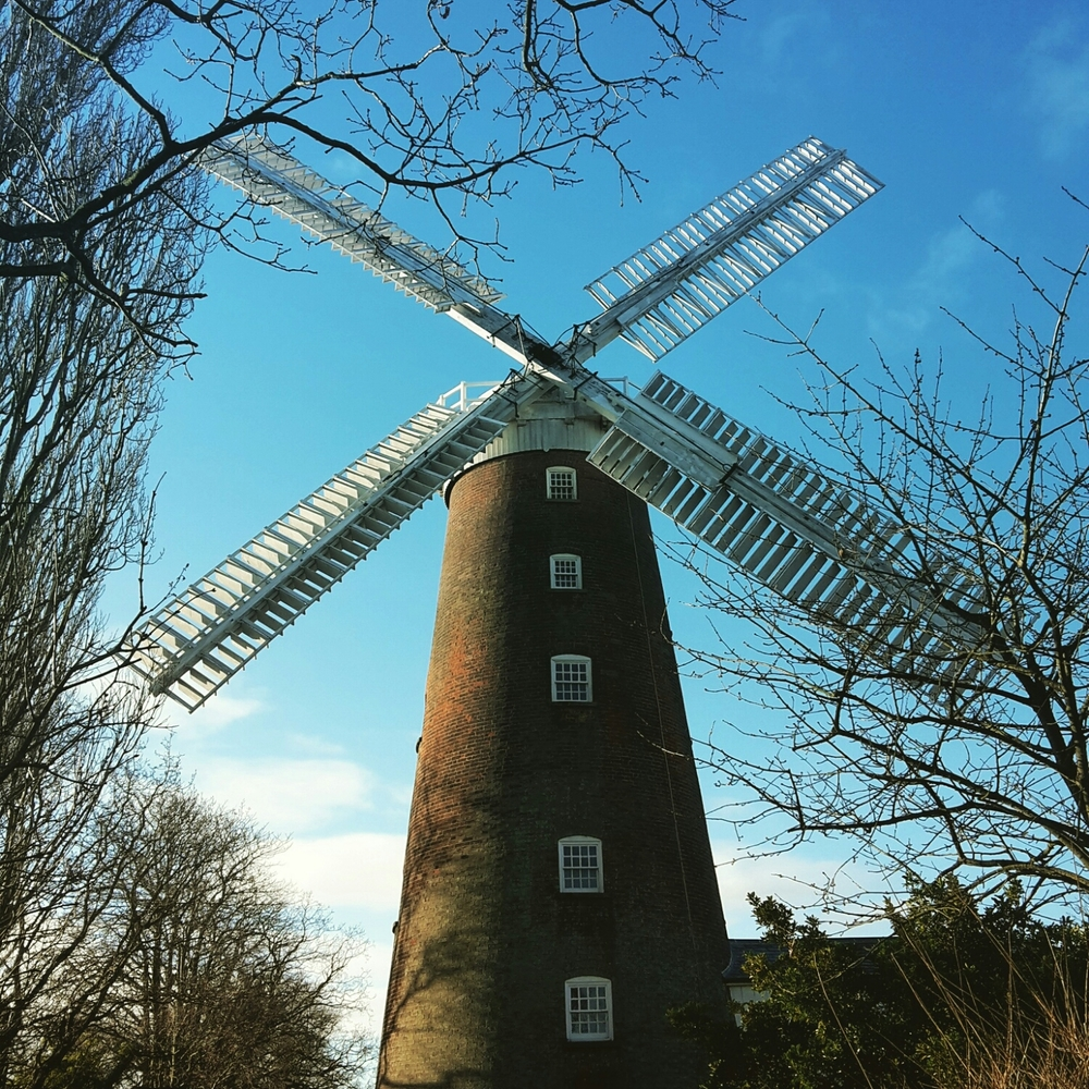 Buttrums Mill in Woodbridge right near my house. I'm basically Jonathan Creek (minus the shaggy mop).