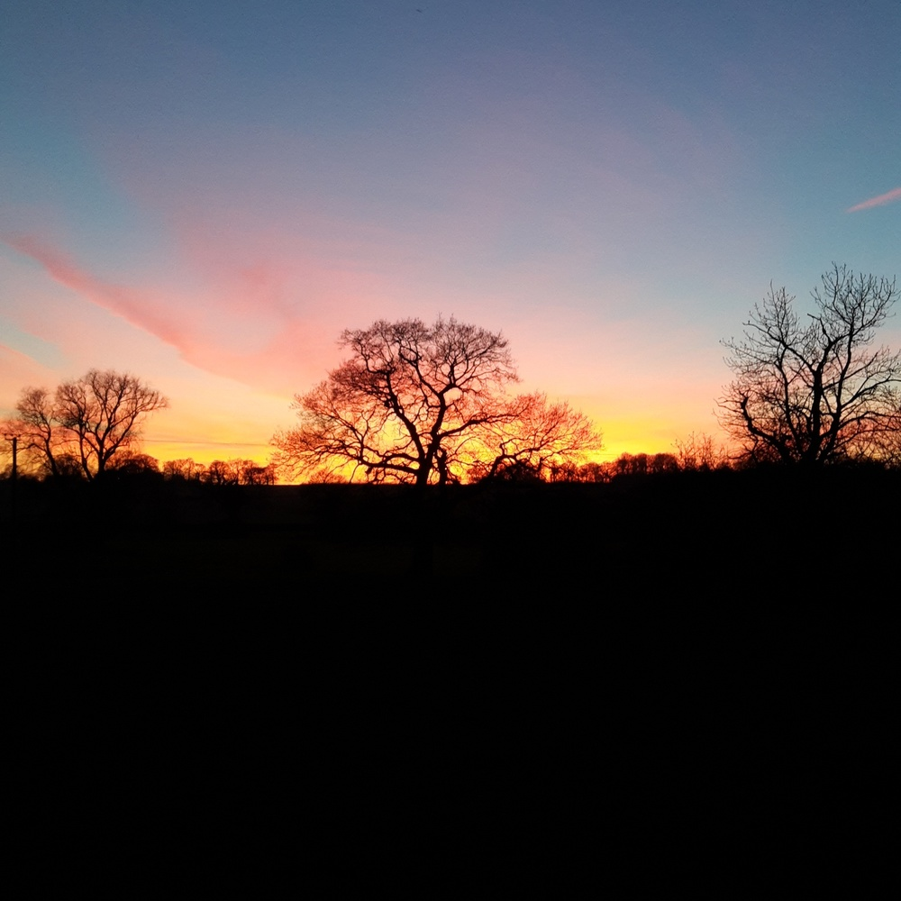 Sunset in Earl Soham, Suffolk.