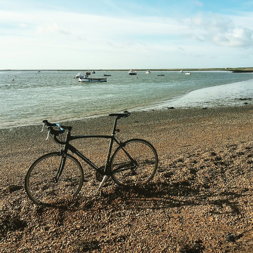 Ghost biking in Orford Quay