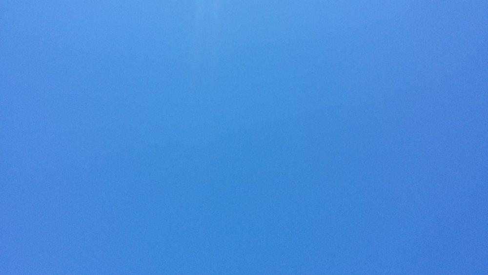 Blue skies over London this week :-)