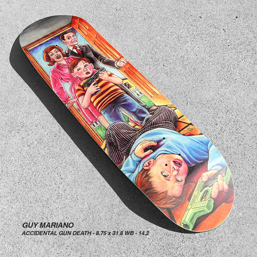 Blind_catalog_Guy Mariano_Accidental Gun Death heritage reissue skateboard deck