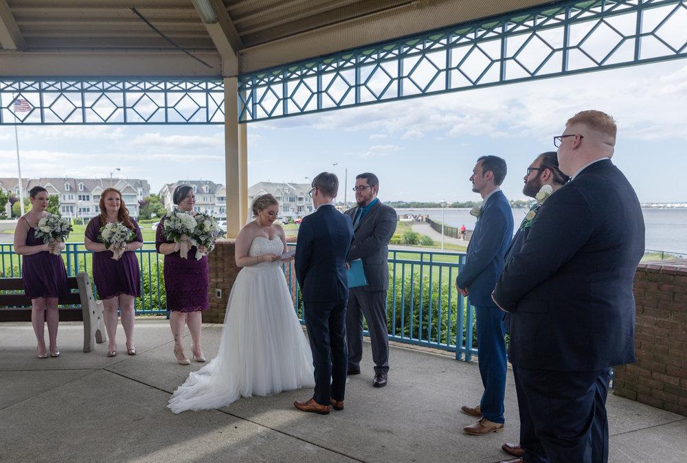 A snapshot of the ceremony at Raritan Bay Waterfront Park