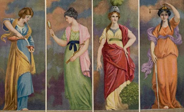 The four cardinal virtues.