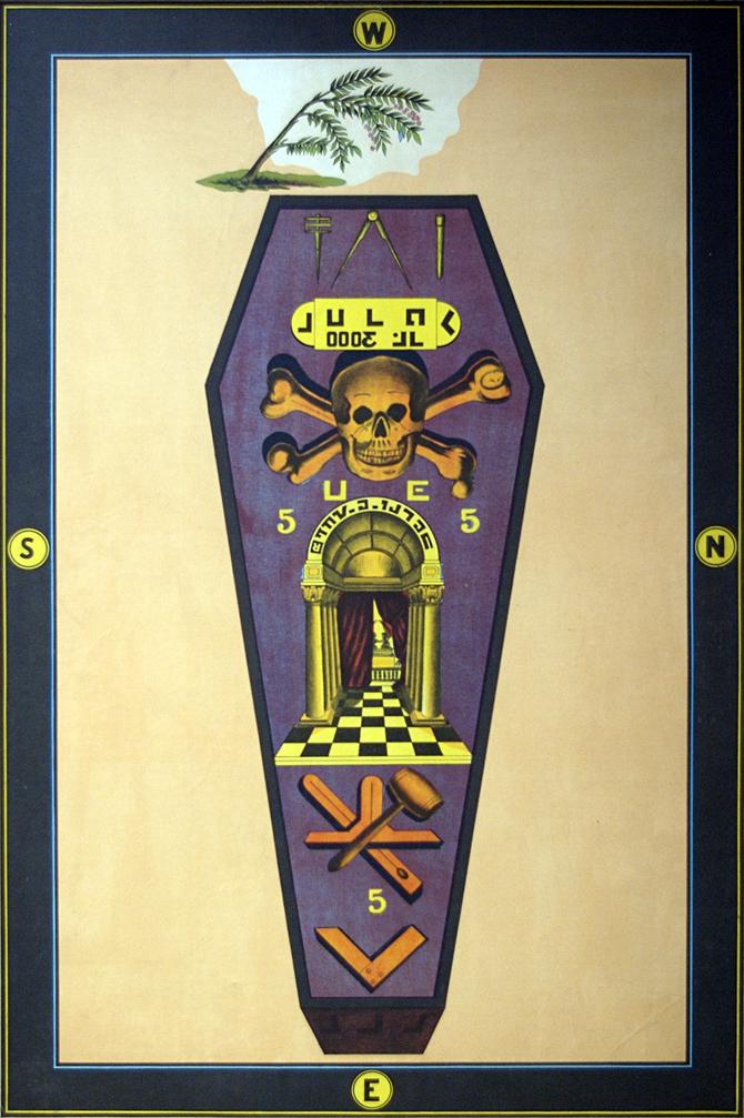 1800's 3° Master Mason tracing board.
