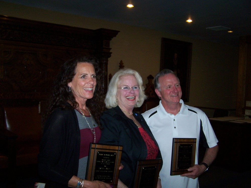 Honored teachers of Chico Unified School District: Kathy Jones, Mary Sours, and Mike Bruggeman