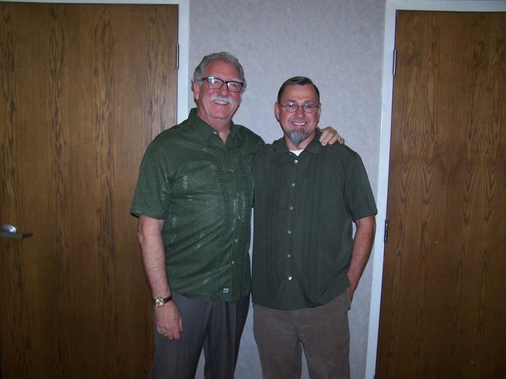 Master of Ceremonies Steve Catterall and Worshipful Master Matt Cherrington.