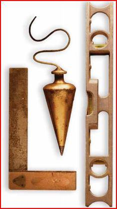 Plumb, Level and square