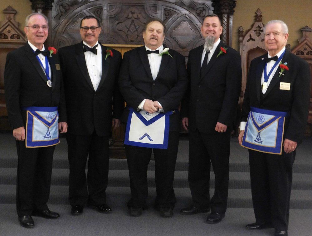 Officers Installation Team with WM Angelo Volpato.