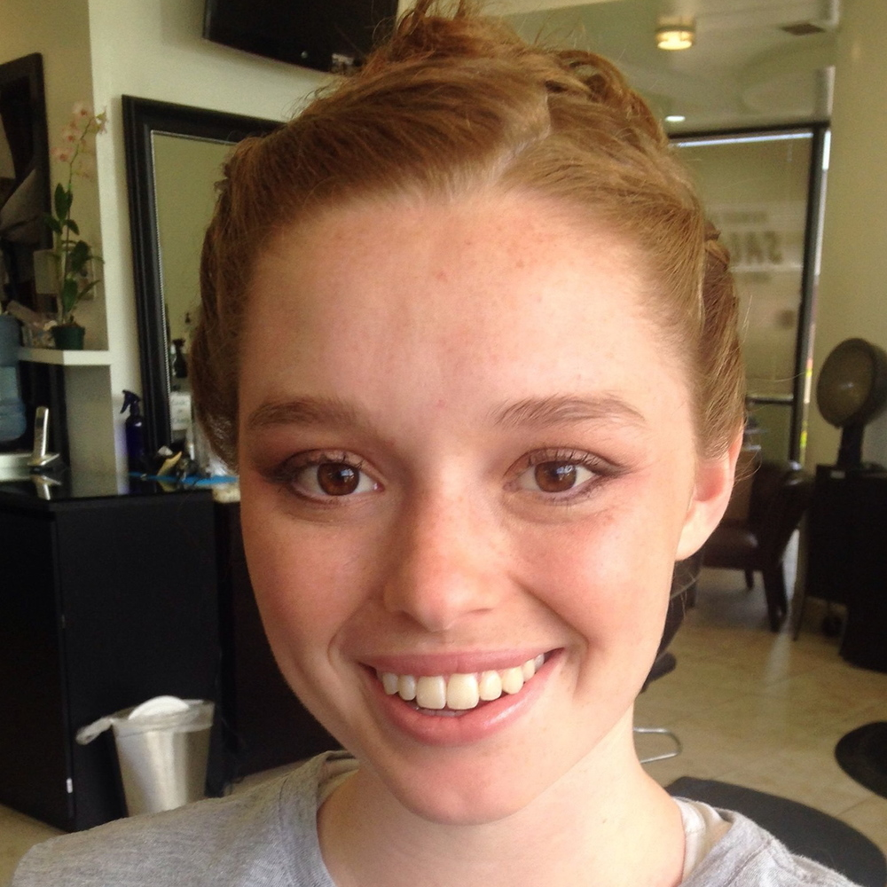 Natural Makeup for Redhead Bride by Ventura Makeup Artist Glory Munoz