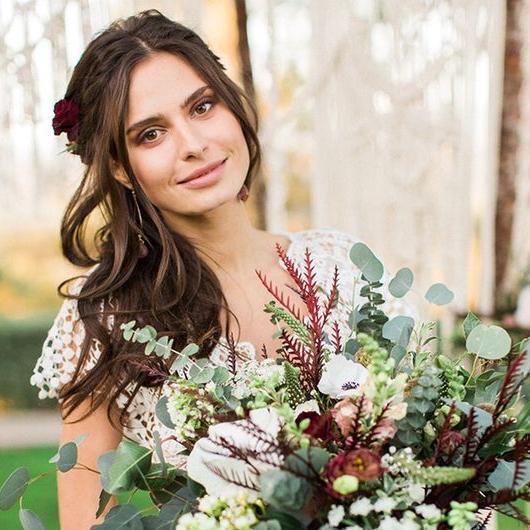 Natural Wedding Makeup for Brown Eyes by Ventura Makeup Artist Glory Munoz