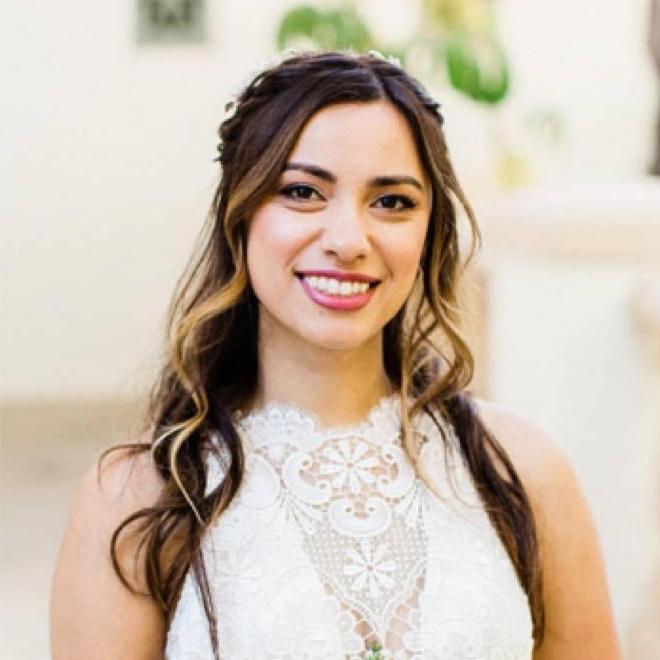Natural Bridal Makeup for Boho Bride by Ventura Wedding Makeup Artist Glory Munoz