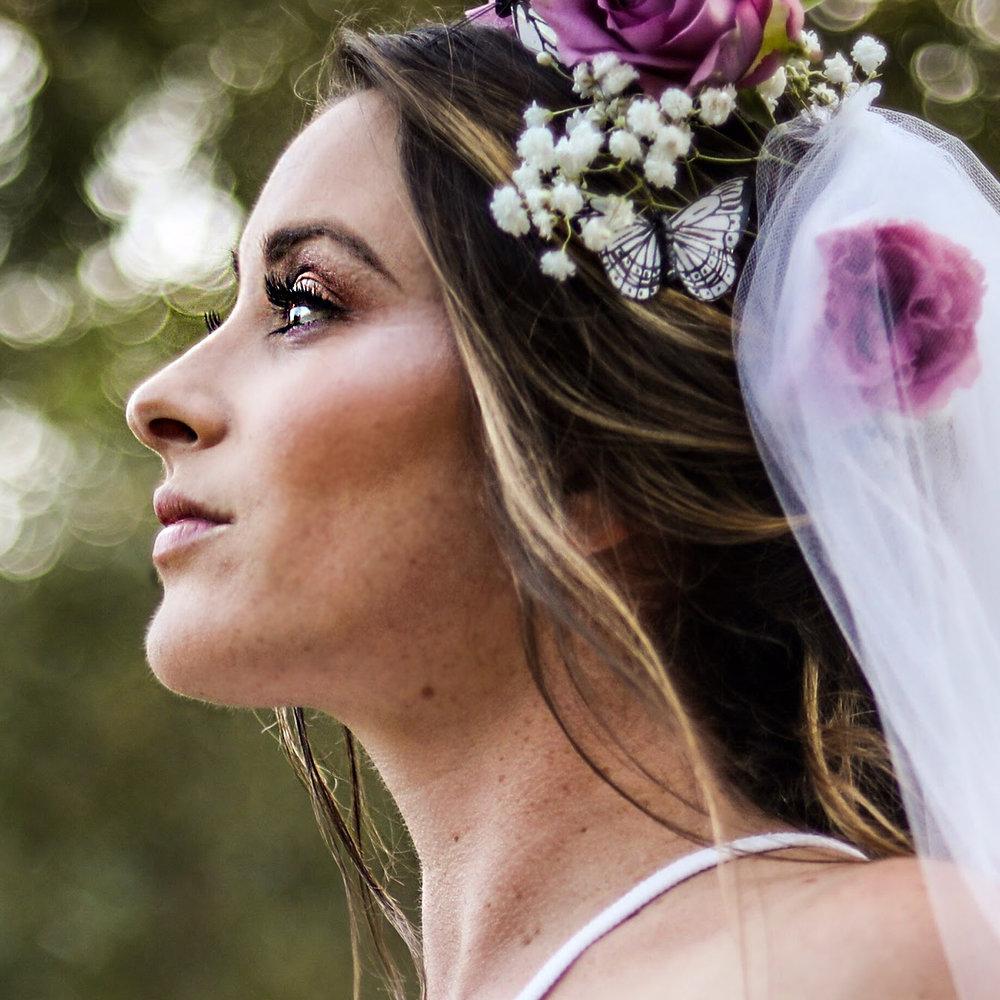 Natural Wedding Makeup for Boho Bride by Ventura Wedding Makeup Artist Glory Munoz
