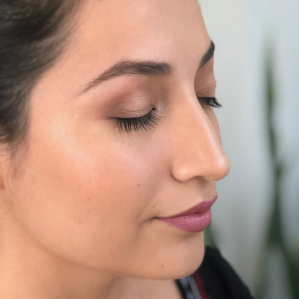 Natural Wedding Makeup for Brunette Bride by Ventura Wedding Makeup Artist Glory Munoz