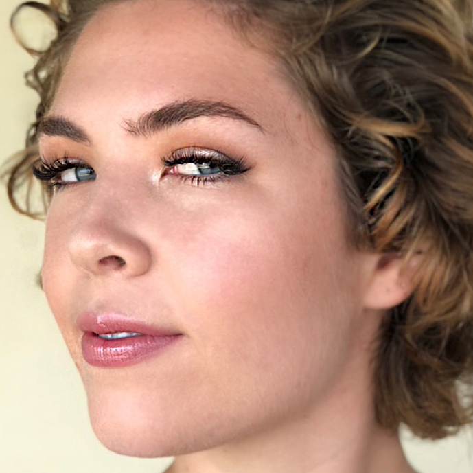 Natural Bridal Makeup for Blue Eyes by Ventura Wedding Makeup Artist Glory Munoz