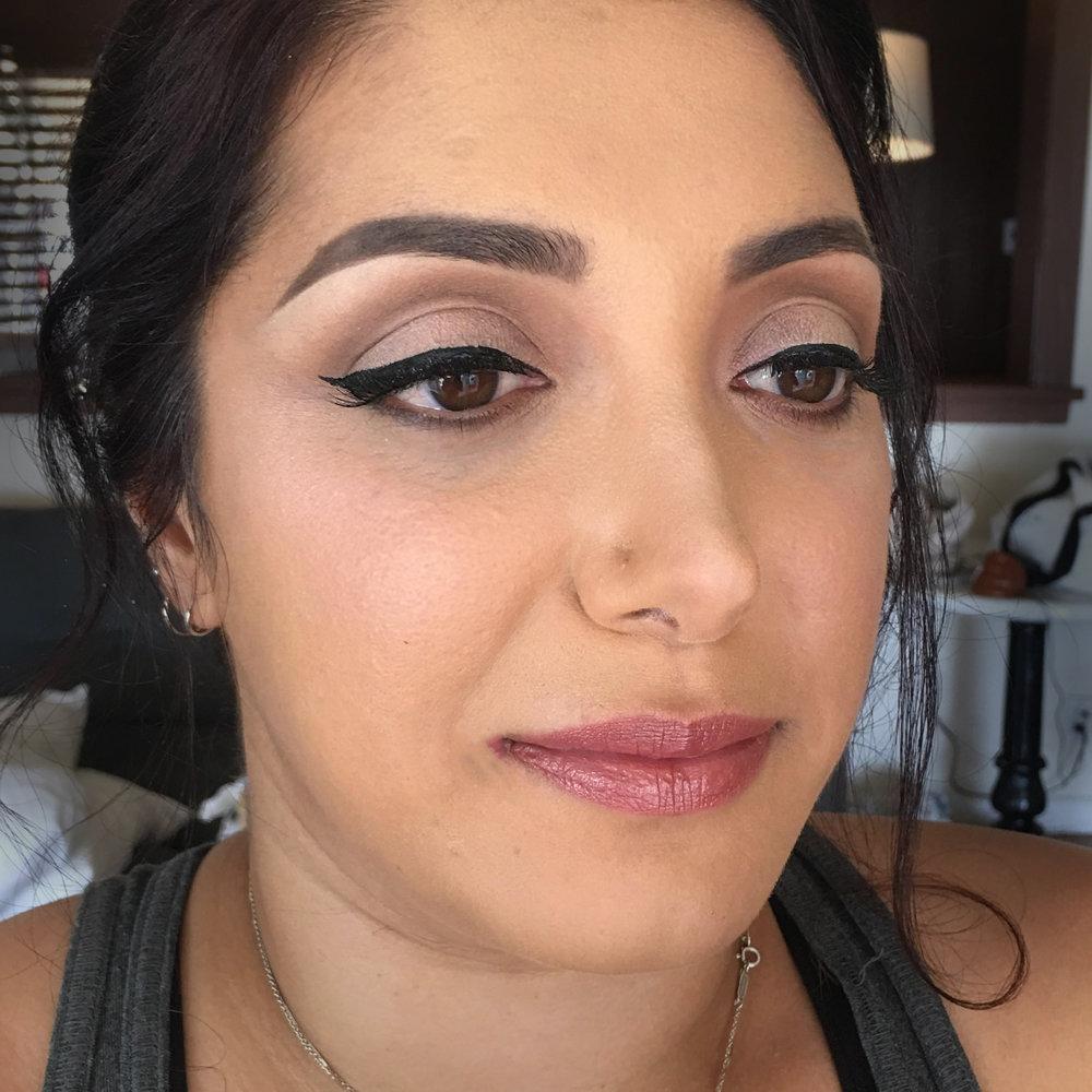 Natural Bridal Makeup for Brown Eyes by Wedding Makeup Artist Glory Munoz