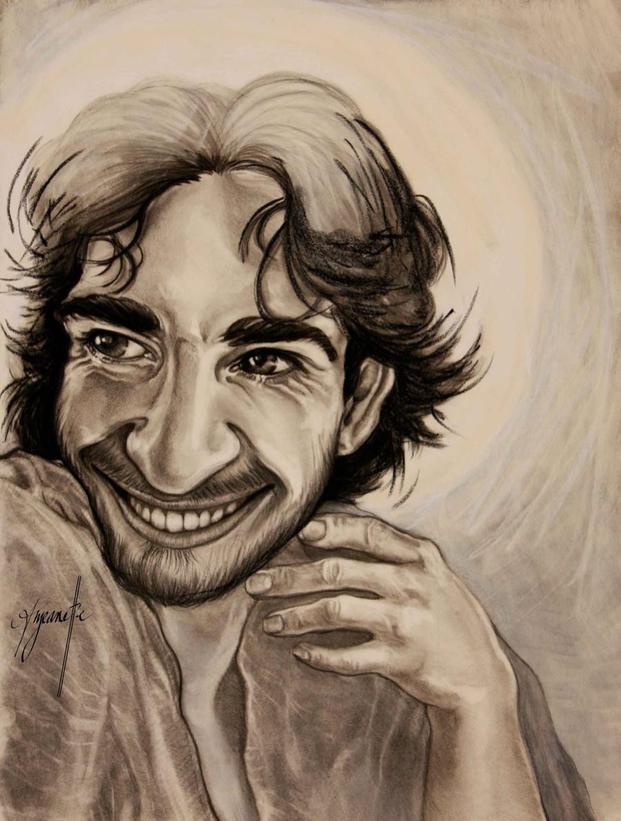 Jesus Laughing by Nashville Area Artist Anjeanette Illustration