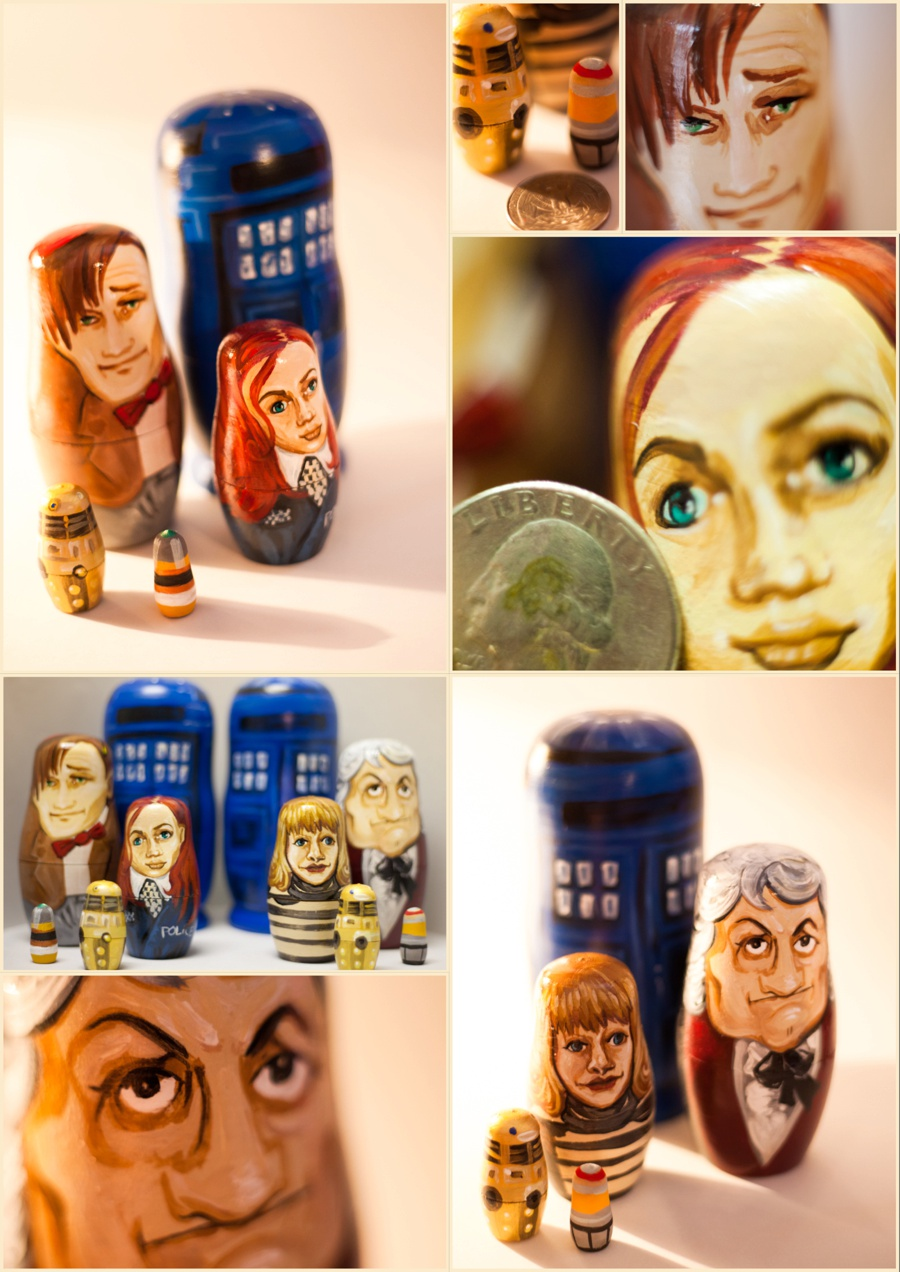 Dr Who Dolls by Anjeanette Illustration