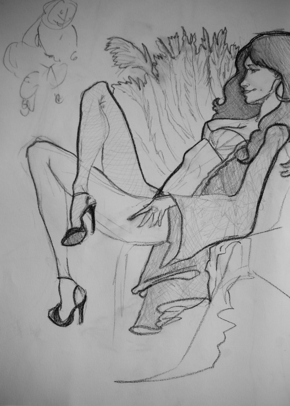 2012 Dr Sketchy's charcoal by Anjeanette Illustration