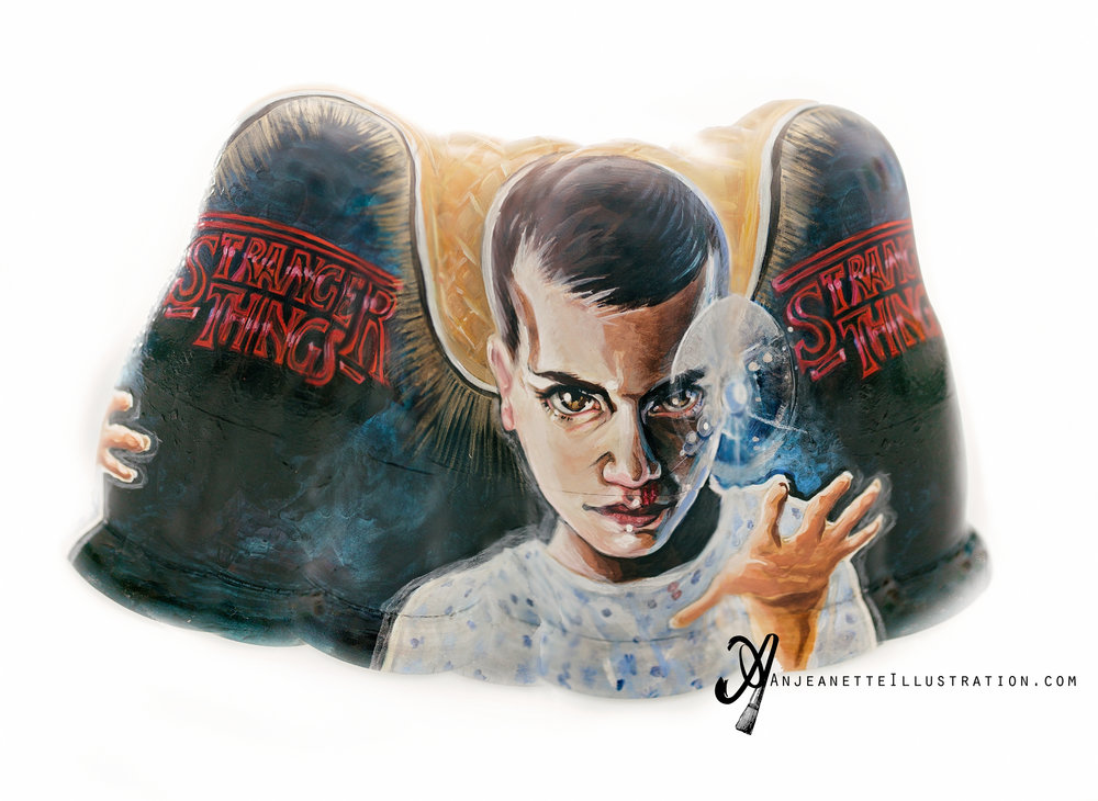 Stretched composite of outside Stranger Things Matryoshka by Anjeanette Illustration