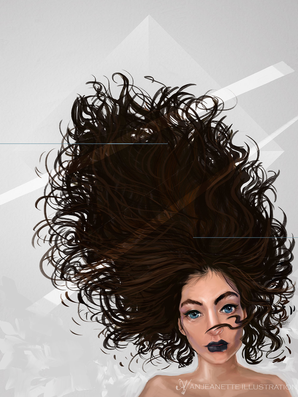 Lorde Digital Painting by  A  njeanette Illustration