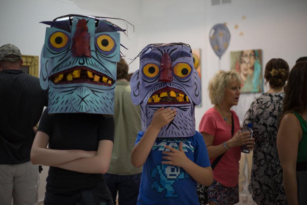 Artkids wearing Charles Bennett pieces