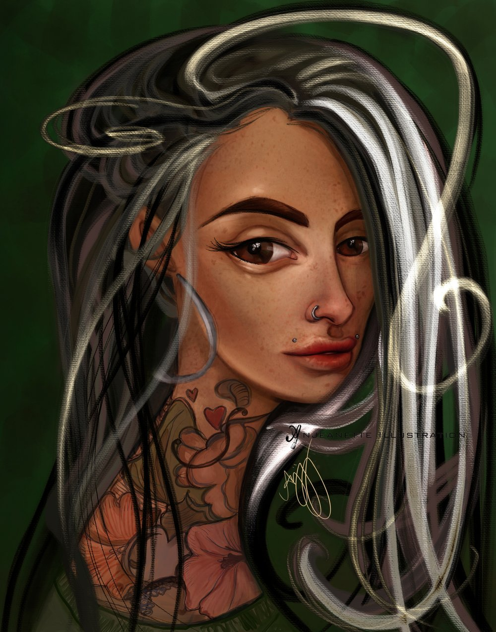 phoenix artist digital painter anjeanette illustration modern eden gallery