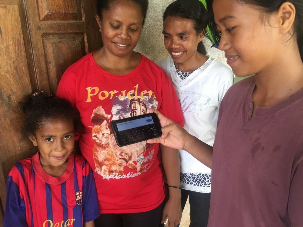 Teenager in village of Triloka, Timor-Leste following LAUNCH on Facebook.