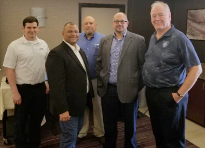 VRARA Criminal Justice Committee Seminar Pictured Left to Right: Eric Dustin of FARO, Rory Wells, Esq. of Ocean County Prosecutor's Office, Ed Williams of FARO, Eduardo Neeter of FactualVR, Greg Schofield of Toronto Police Service