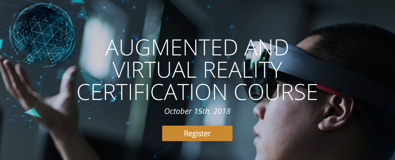 Augmented And Virtual Reality Certification Course Vrar