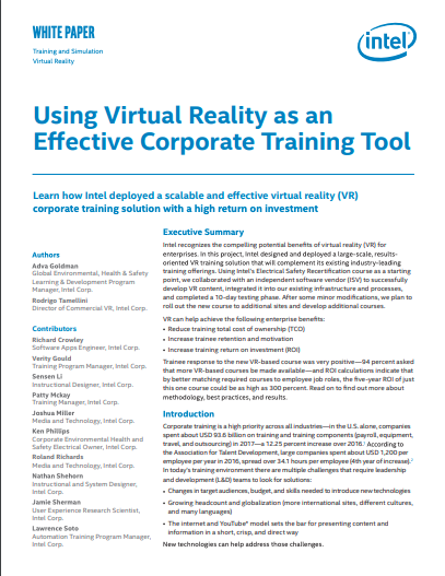 VR in Corporate Training