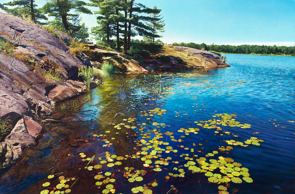 Georgian Bay , 2015, limited edition giclée print, 27 x 41 inches (framed: 40 x 53.5 inches), edition of 30  (inquire)