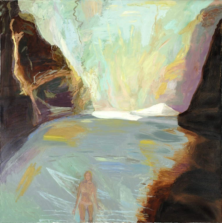 The Cove ,2016, oil on canvas,48 x 48 inches  (inquire)