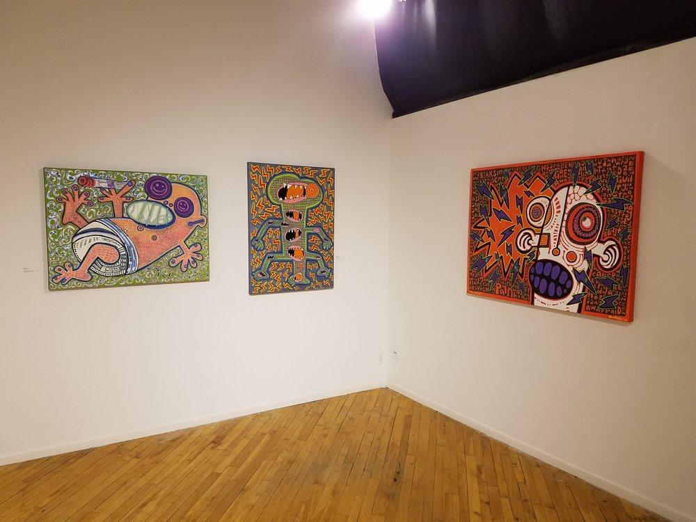 Installation view (light), Mr. Hydde: Nite Konectionz