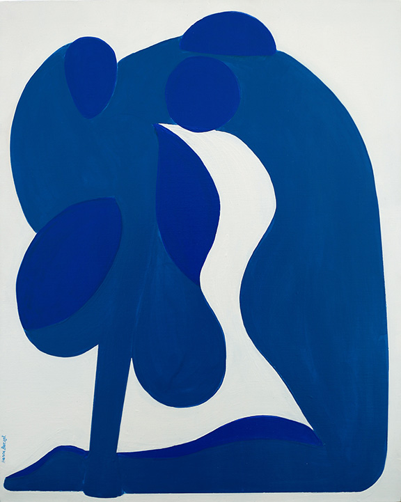 Blue Woman , 2016, acrylic on canvas, 36 x 24 inches  (inquire)