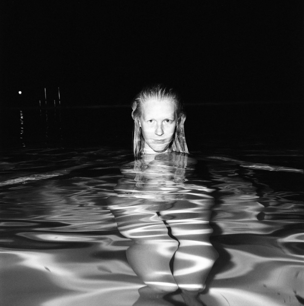 Andi, Alexandra Pool, Toronto , 2017, gelatin silver print, 28 x 28 inches, edition of 10  (inquire)