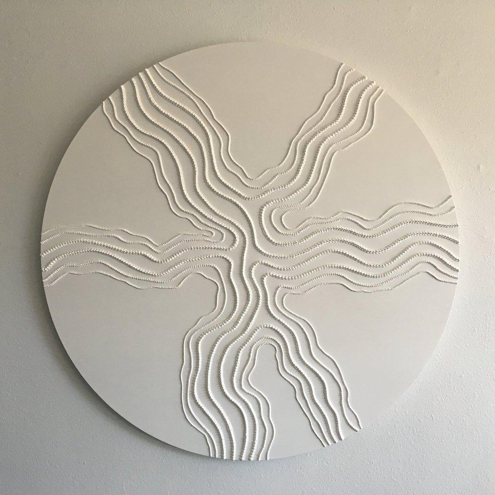 Peak , 2016, acrylic on wood, diameter: 48 inches  (inquire)