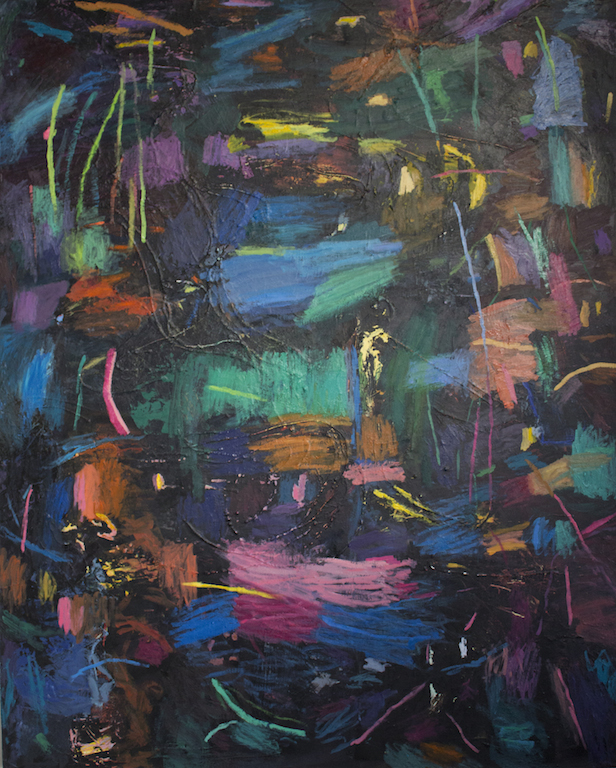 On Through the Night ,2016, oil on canvas,60 x 48 inches  (inquire)