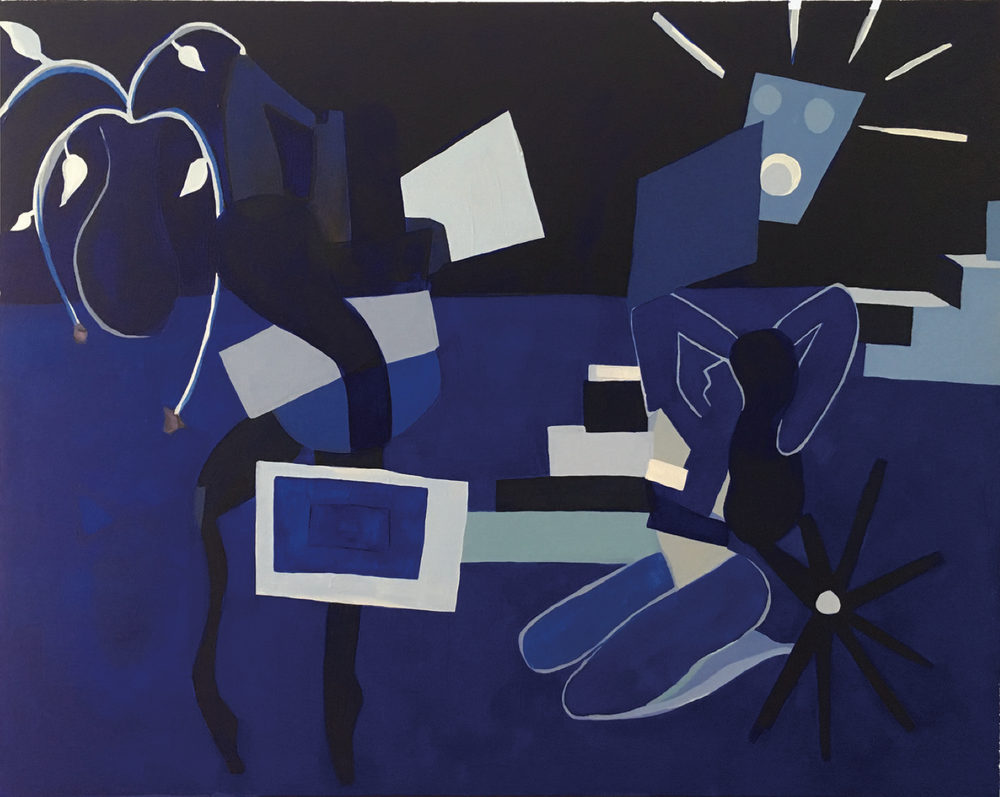 Franziska Barczyk,  Nights , 2018, acrylic on canvas, 36 x 48 inches  (inquire)