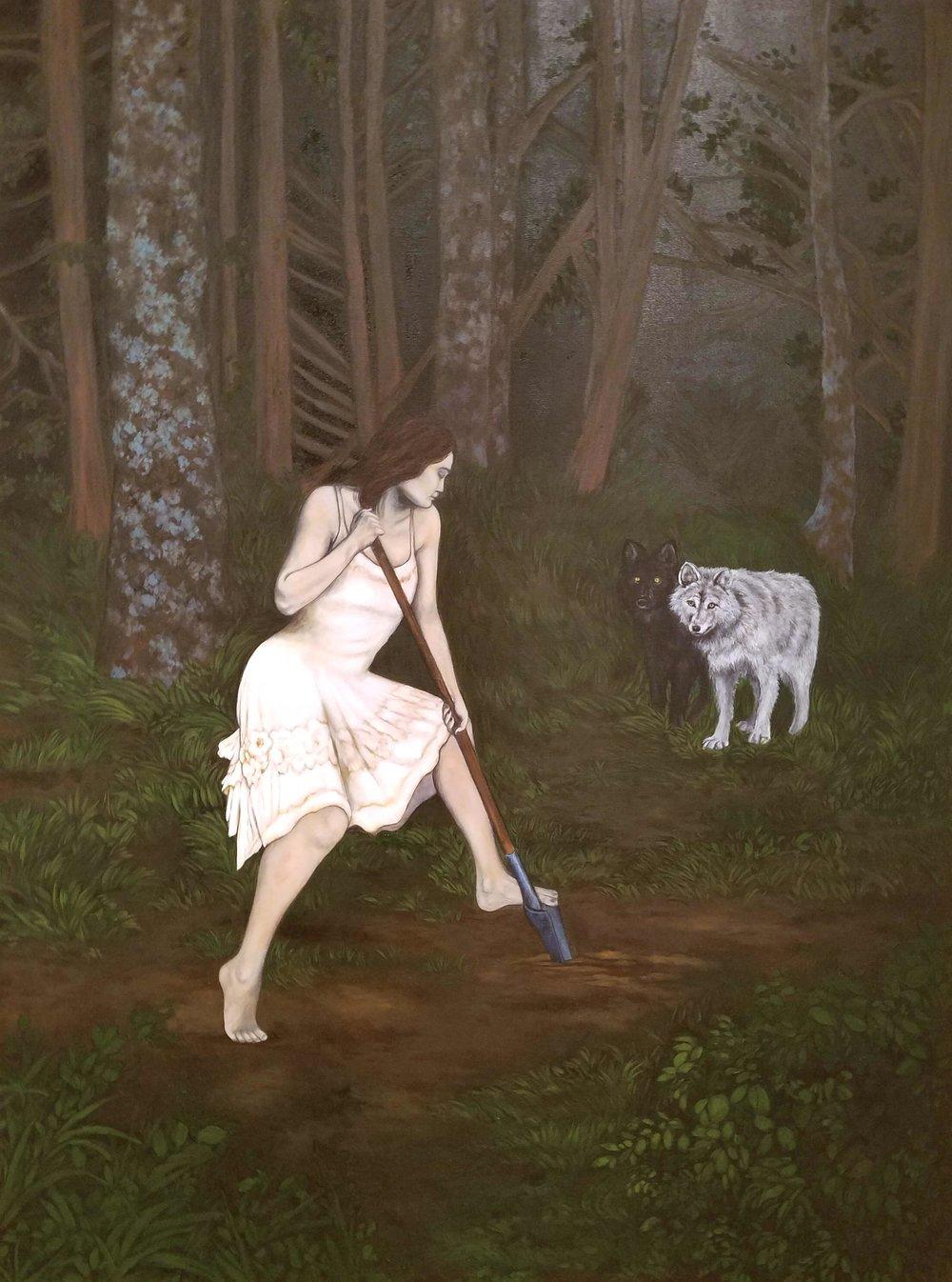 I Will Devour You , 2018, oil on canvas, 40 x 30 inches  (inquire)