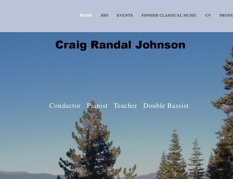 evergreen trees that link to musician Craig Randal Johnson's website